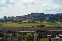 Immerse yourself with great views of Serena five star hotel (In Back ground) and Golf course
