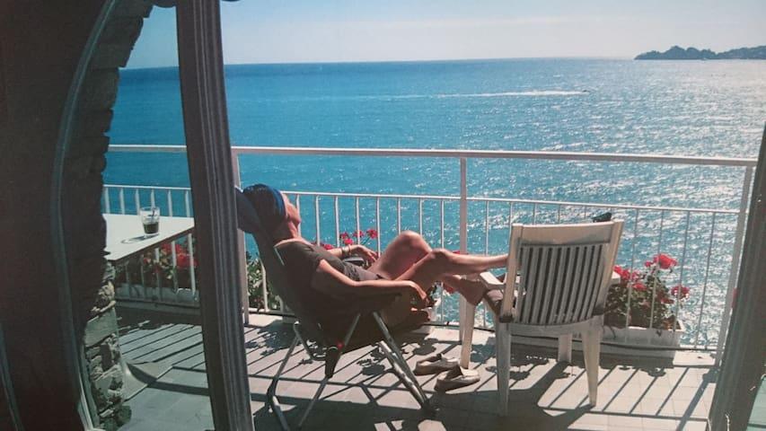 Vista mozzafiato e spiaggia privata - Zoagli - Apartament