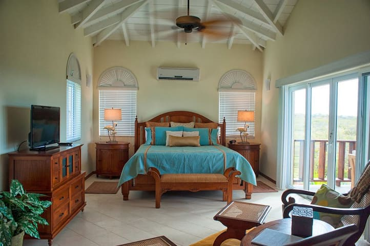 """Fountain Anguilla by """"Refined Retreats""""~Penthouse Studio with Vaulted Ceilings!"""