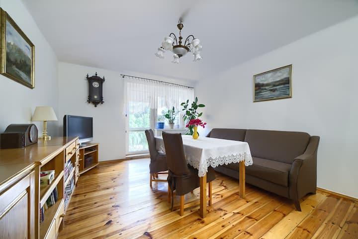 Słoneczny apartament na przedmieściach Poznania