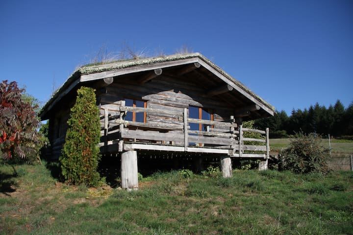 The Otter: wooden cottage in the heart of nature - Thouron - Blockhütte