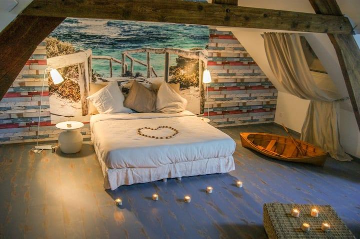 Suite ambiance cocooning Jacuzzi et sauna privatif