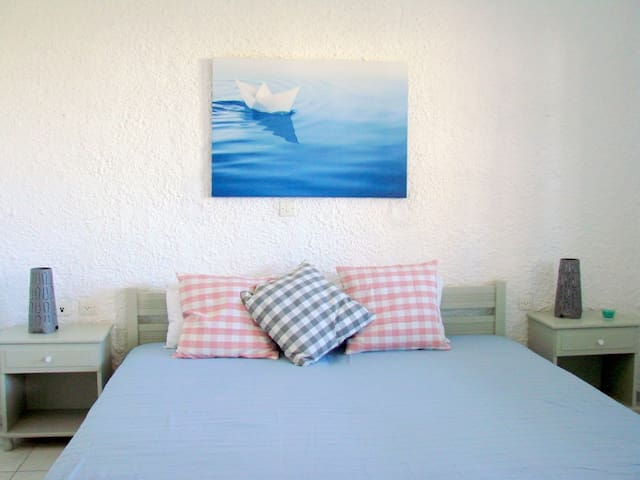 2bed studio 150 m from the beach. - Γαλησσάς - Daire