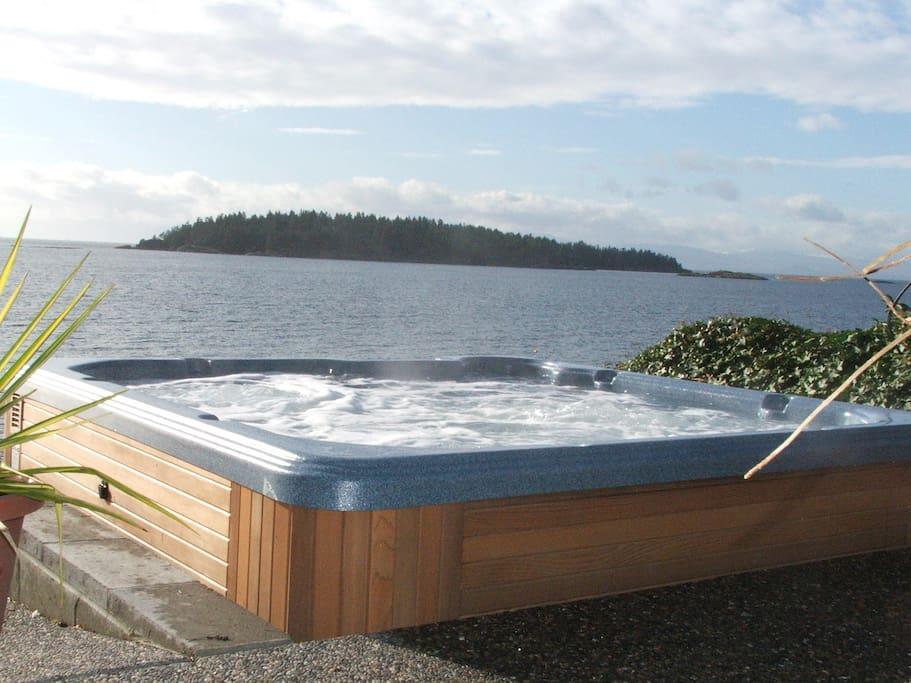 ocean side hot tub