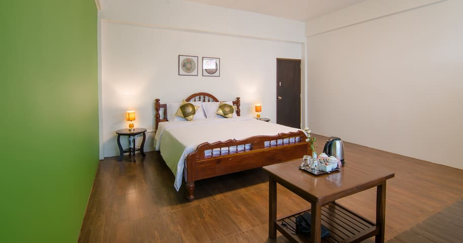 Spacious room with a balcony in the heart of Trang