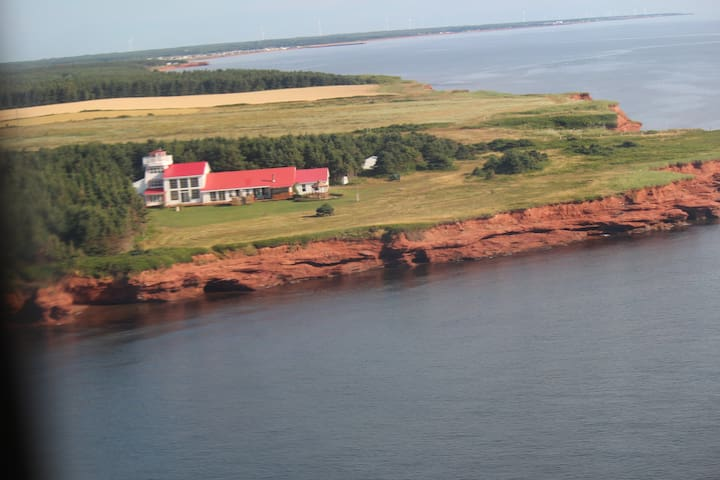 4 bedroom lighthouse sitting on the cliffs overlooking the Gulf of St. Lawrence