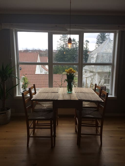 Dining table by the window