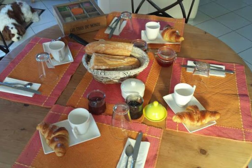 Le petit déjeuner inclus