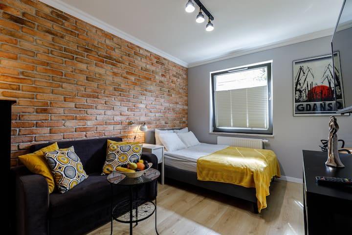 Apartament z parkingiem rowerowym i dostępem Sauny