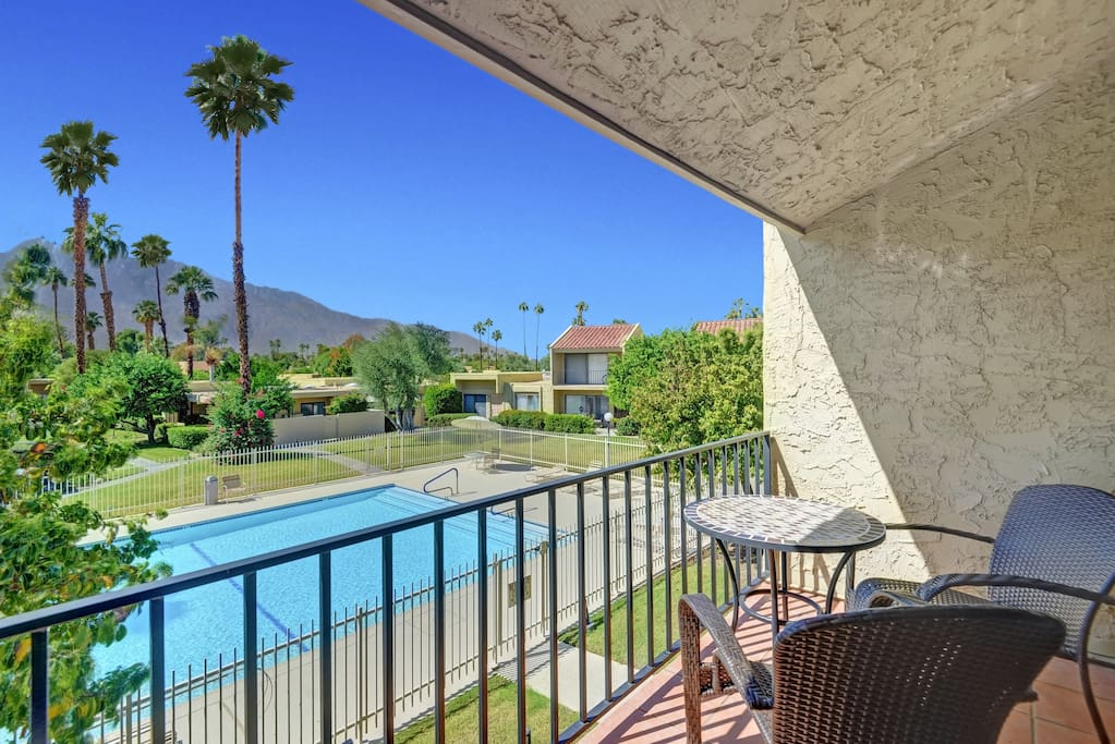 Take in amazing mountain views from the balcony off of the 2nd bedroom.
