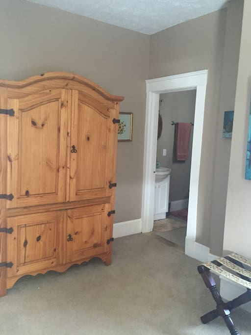Armoire for storage but also a full size closet