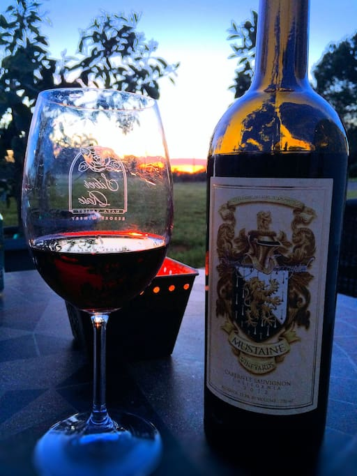 Wine with the Sunset