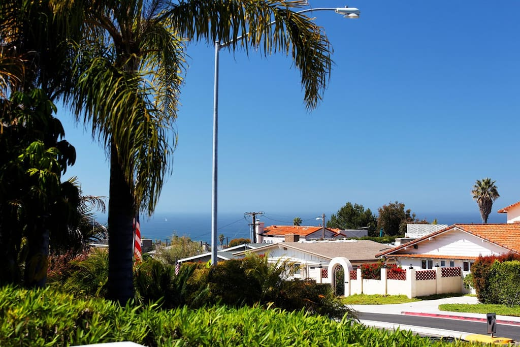 Beautiful ocean view from the house