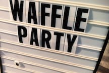 Fine & Raw Chocolate Fabrik has a waffel party, just one block away from your room :D