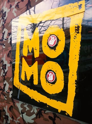 """Momo Sushi Snack"" House, 2 Blocks away from the apartment. The entrance door of it."