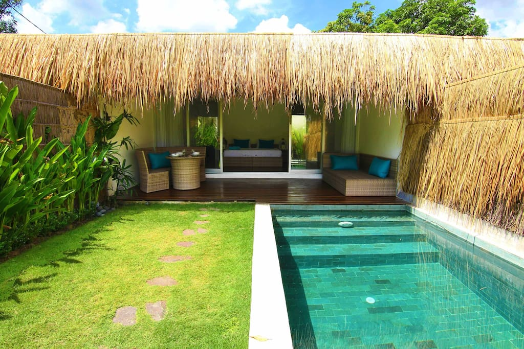 villa tropicale avec 1 chambres piscine priv e villas louer canggu bali indon sie. Black Bedroom Furniture Sets. Home Design Ideas