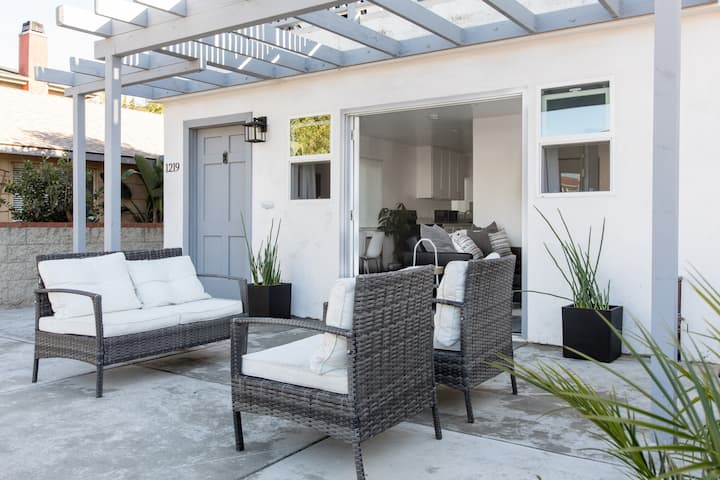 Lounge like locals on your patio+ walk to beach