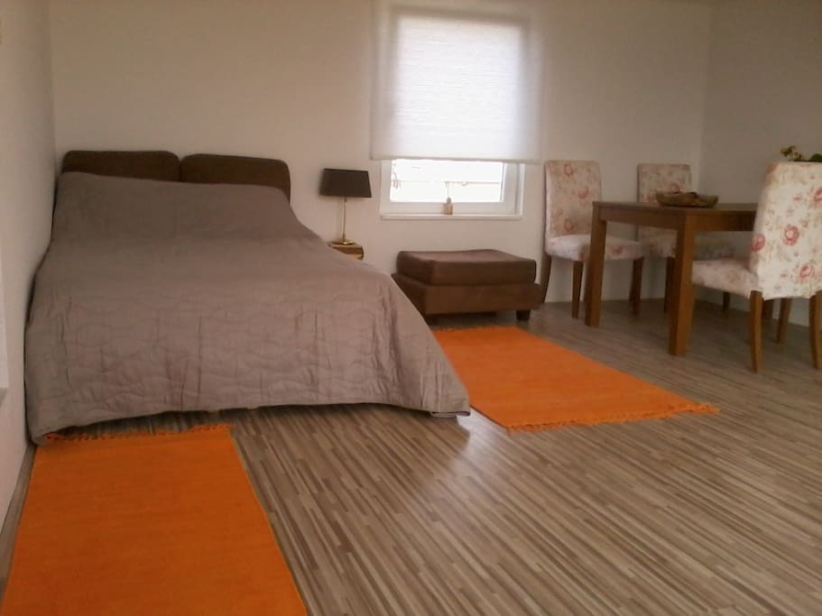 Very comfortable double bed with special mattress