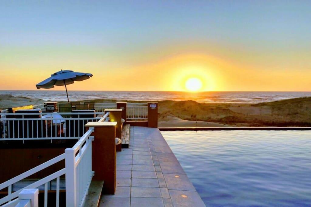 Se alguém arriscar acordar cedo pode ser contemplado com um belo nascer do sol.