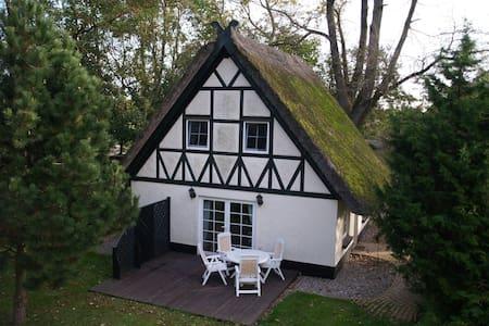 Abgelegenes Hühnerhaus mit Reetdach