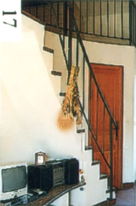 Staircase to the mezzanine