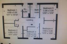 Upper floor plan.