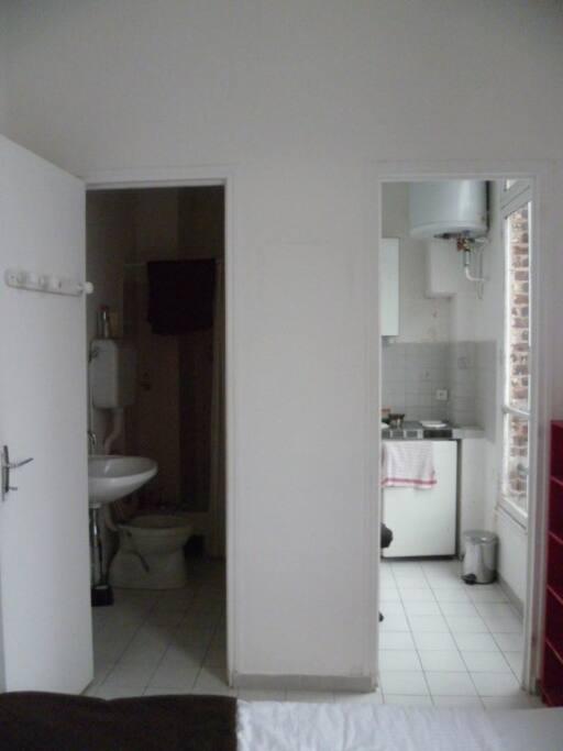 porte salle de bain et cuisine