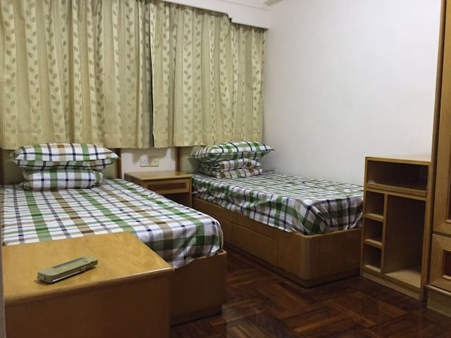 Twins Bed Room near World Heritag - Macau - Departamento