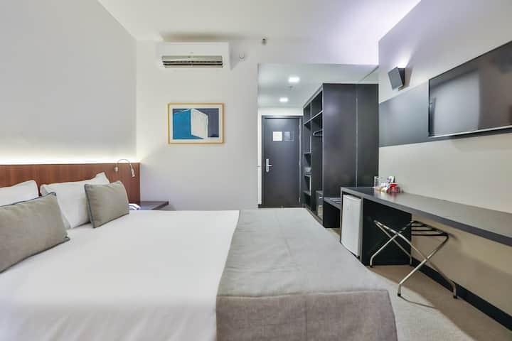 Apartamento com cama queen ou duplo solteiro