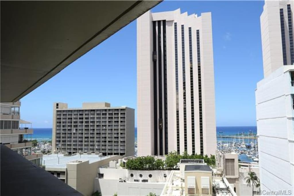 View you will never forget of Hawaii Prince Hotel with rooms starting at 400.00 a night plus taxes and parking.