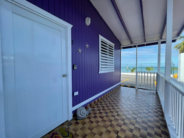 Beachfront Rustic Cabin by Sunset Village - Purple