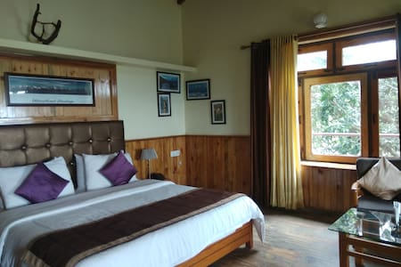 mountains facing rooms at Mohan's Binsar Retreat