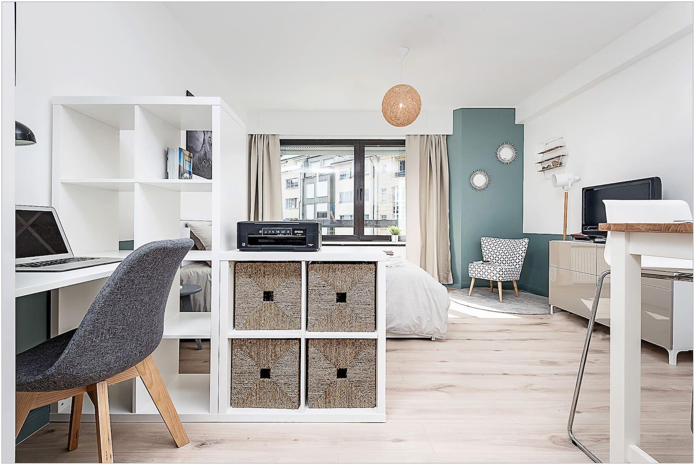 Appartement 30m2 avec TV cable, internet et imprimante