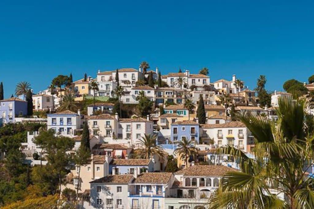 The beautiful village La Heredia