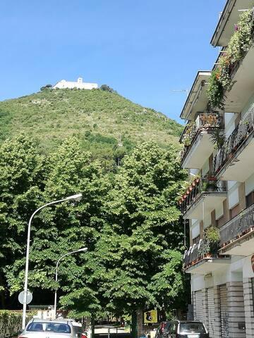 Casa con vista presso la Villa Comunale a Cassino