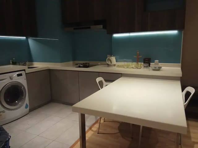 Simple and easy kitchen plus washing area