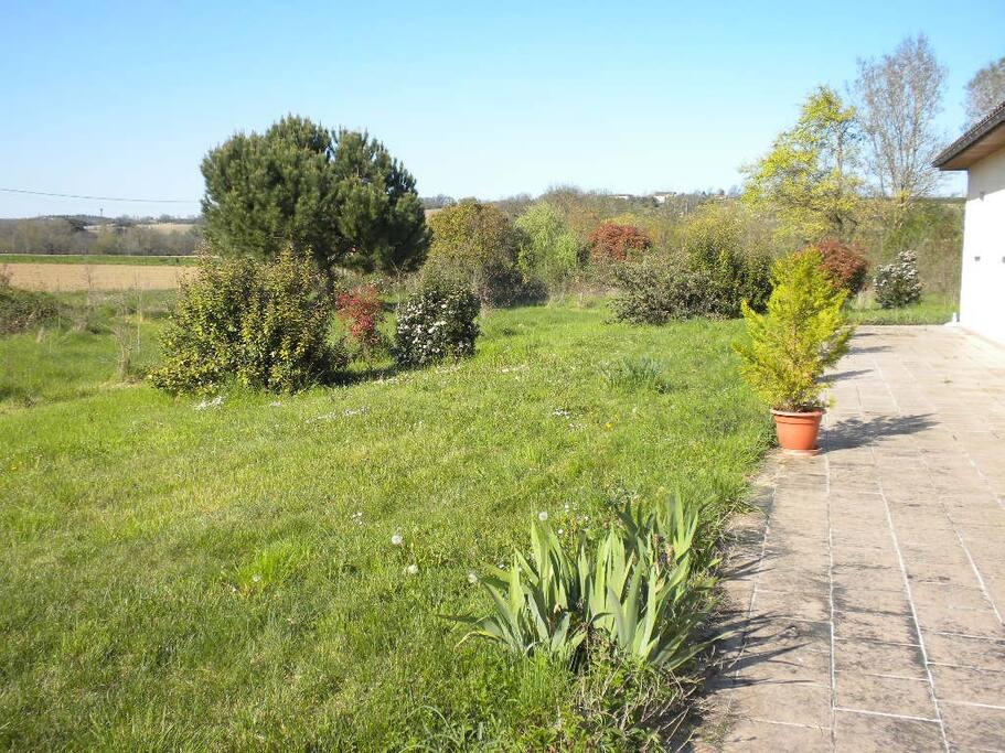 vue du jardin côté ouest