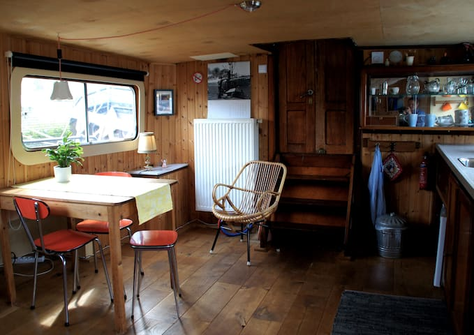 Romantic deckhouse on historic ship central R'dam