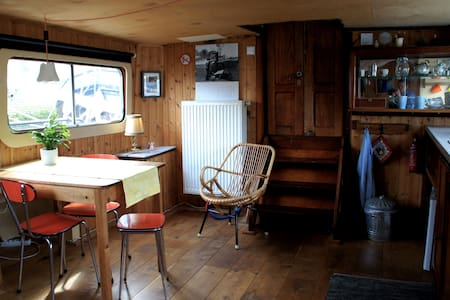 Romantic deckhouse on historic ship central R'dam - Rotterdam