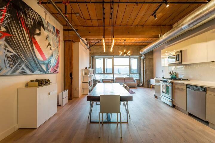 Luxury Arts District Loft
