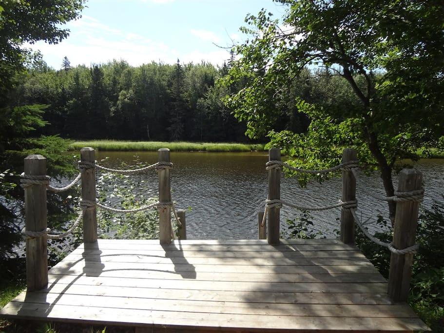 75' of waterfront property on Shediac River