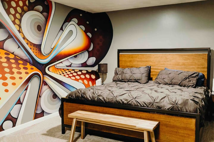 Street Art Basement Suite and Home Theater