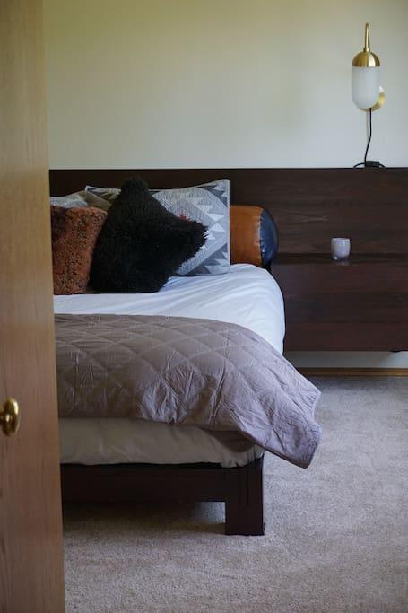 Custom made queen bed