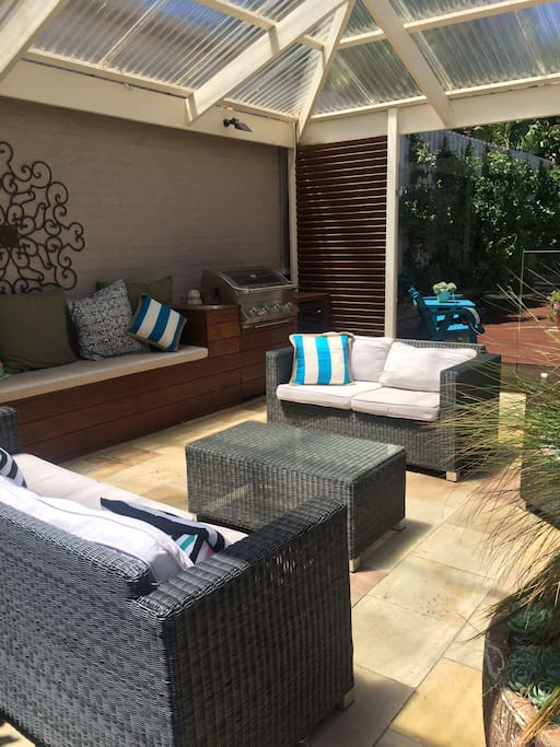 BBQ and outdoor lounge