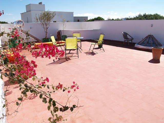 terrasse pour bronzette