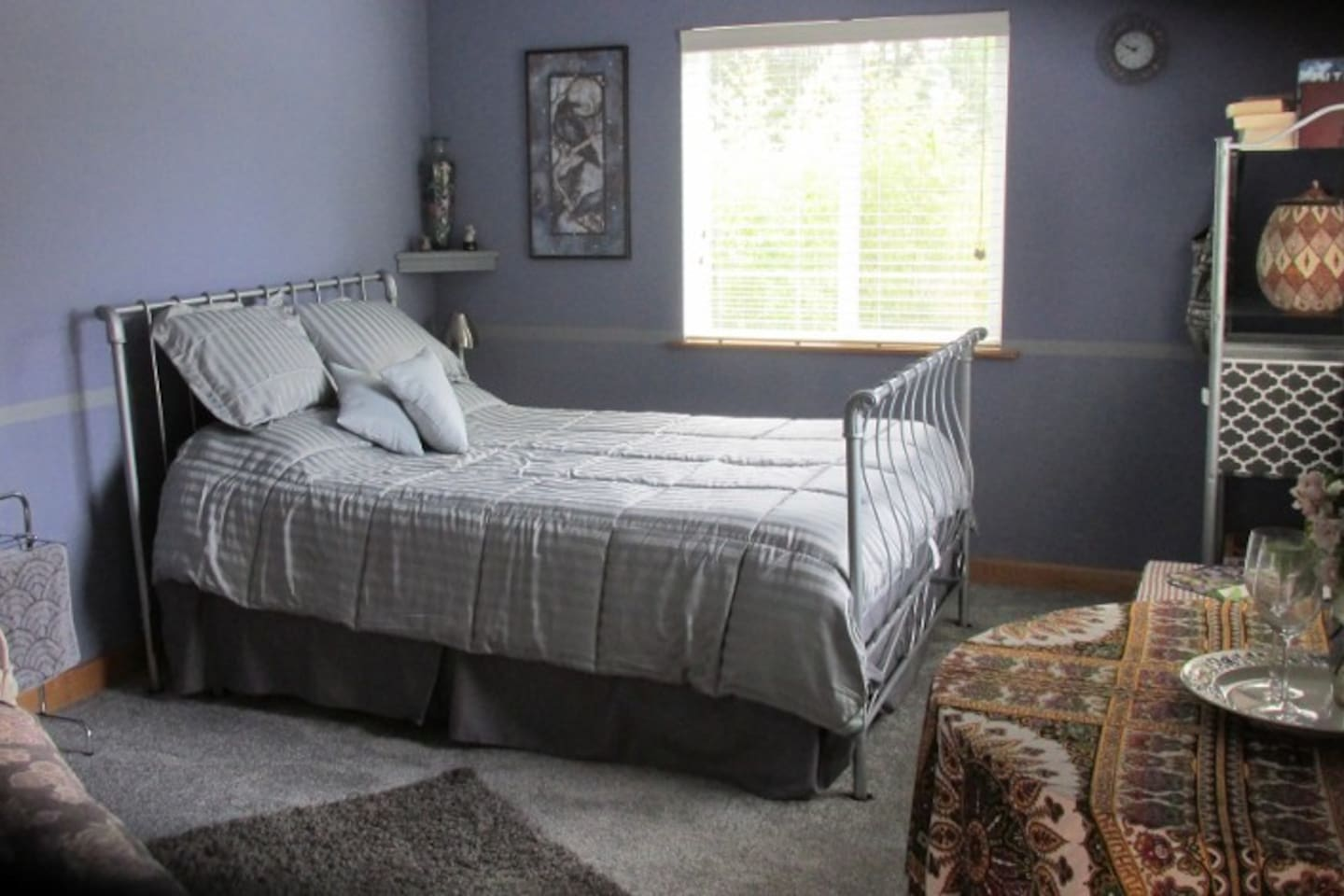 Spacious room has queen-sized bed with new gel memory foam mattress