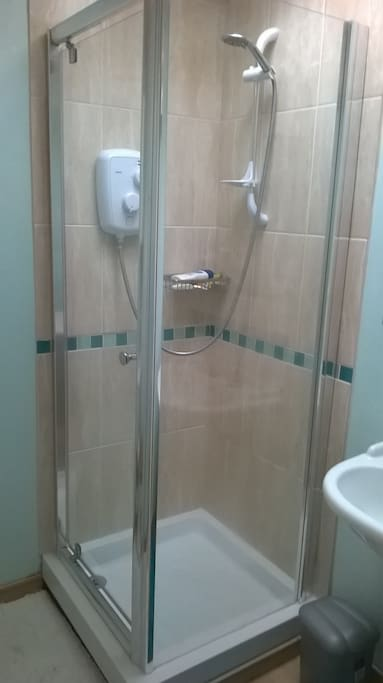 Semi-private use of bathroom with shower