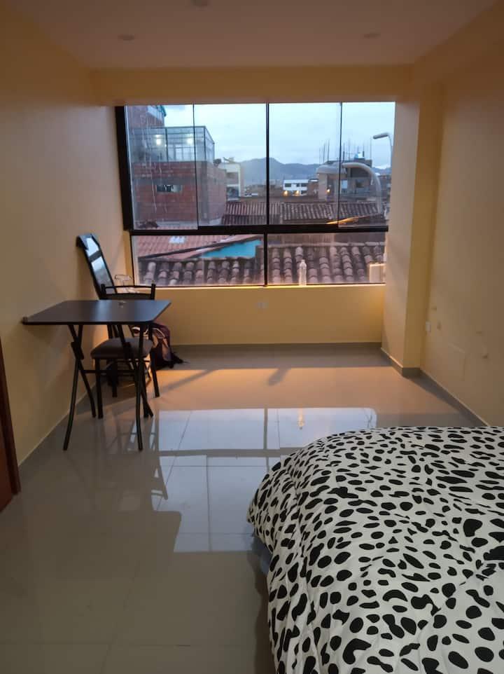 Habitación amoblada con baño privado,Cusco
