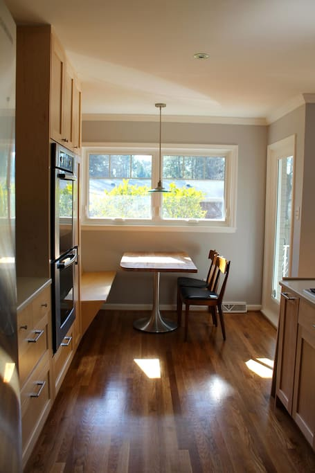 Sunny breakfast nook in updated kitchen