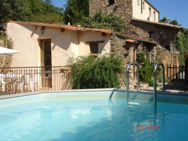 Gîte rural jardin et piscine privée - Caixas - Casa